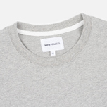 Мужской лонгслив Norse Projects Niels Basic Light Grey Melange фото- 1