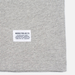 Мужской лонгслив Norse Projects Niels Basic Light Grey Melange фото- 3