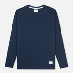 Мужской лонгслив Norse Projects Niels Basic Navy фото- 0