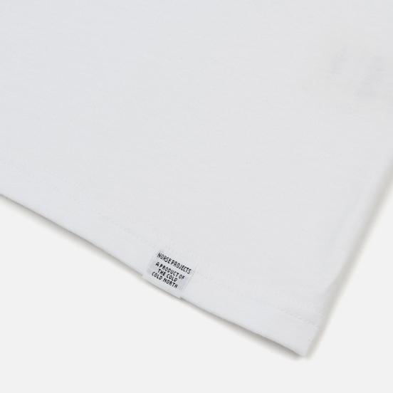 Мужской лонгслив Norse Projects Niels Standard White