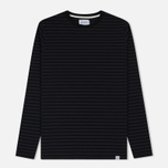 Мужской лонгслив Norse Projects Svali Military Stripe Black/Charcoal фото- 0