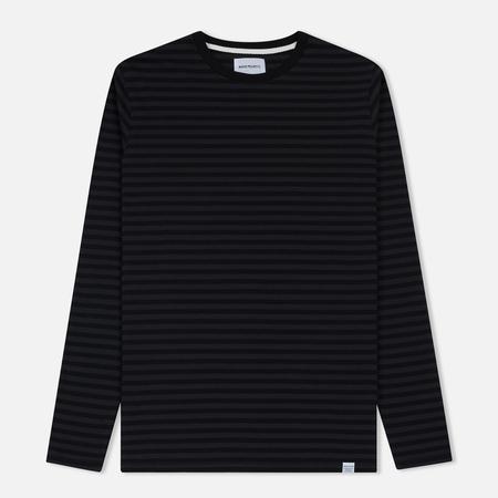 Мужской лонгслив Norse Projects Svali Military Stripe Black/Charcoal