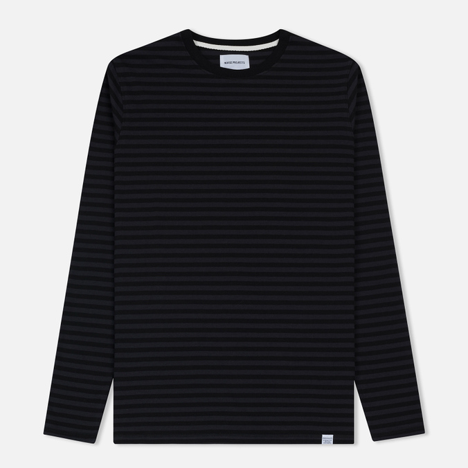 Мужской лонгслив Norse Projects Svali Military Stripe Black/Charcoal