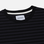 Мужской лонгслив Norse Projects Svali Military Stripe Black/Charcoal фото- 1