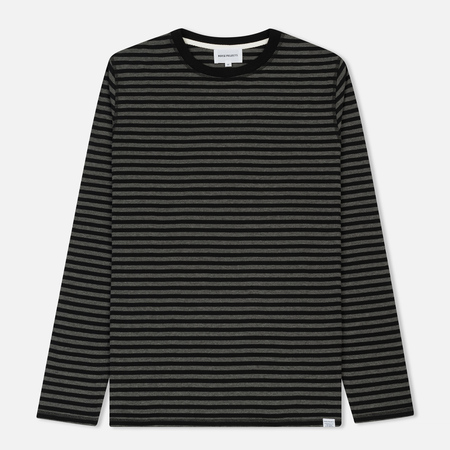 Мужской лонгслив Norse Projects Svali Military Stripe Black/Grey Melange
