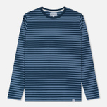 Мужской лонгслив Norse Projects Svali Military Stripe Boundary Blue/Margi фото- 0