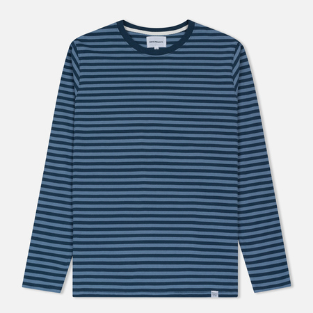Мужской лонгслив Norse Projects Svali Military Stripe Boundary Blue/Margi