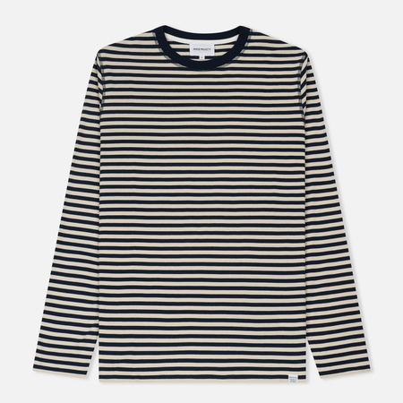Мужской лонгслив Norse Projects Svali Military Stripe Kit White
