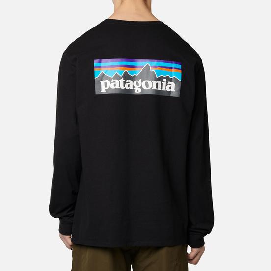 Мужской лонгслив Patagonia LS P-6 Logo Black