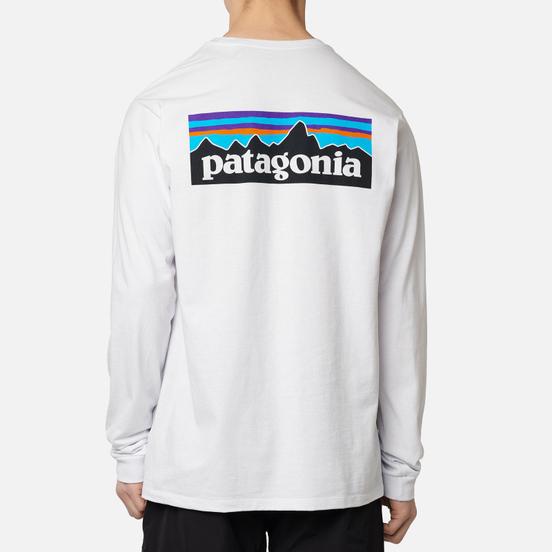 Мужской лонгслив Patagonia LS P-6 Logo White
