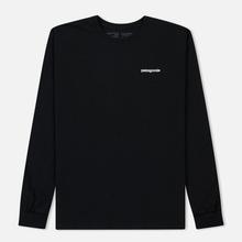 Мужской лонгслив Patagonia P-6 Logo Black фото- 0