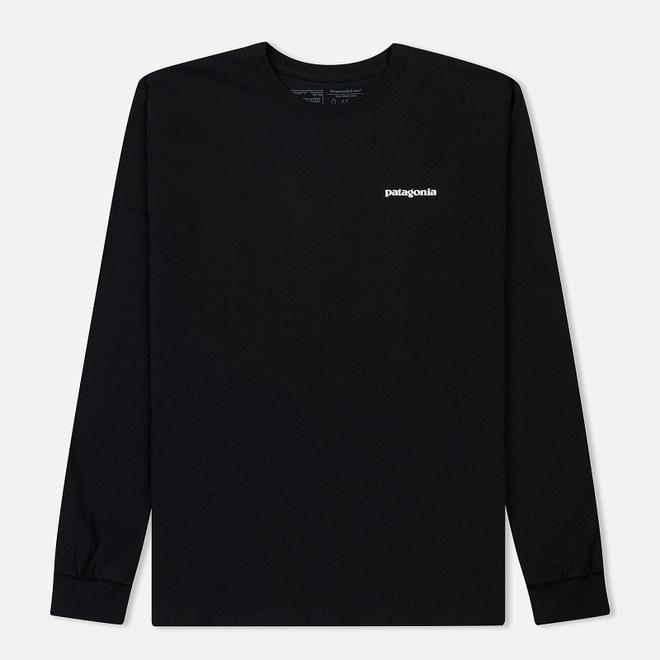 Мужской лонгслив Patagonia P-6 Logo Black