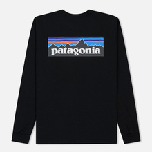 Мужской лонгслив Patagonia P-6 Logo Black фото- 1