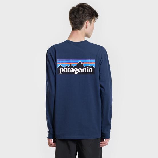 Мужской лонгслив Patagonia P-6 Logo Classic Navy