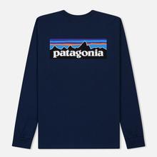Мужской лонгслив Patagonia P-6 Logo Classic Navy фото- 1