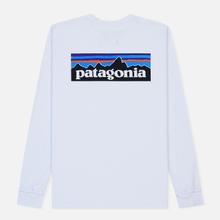 Мужской лонгслив Patagonia P-6 Logo White фото- 1