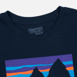 Мужской лонгслив Patagonia Shop Sticker Cotton Navy Blue фото- 1