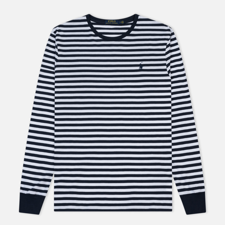 Мужской лонгслив Polo Ralph Lauren Classic Stripe Aviator/White