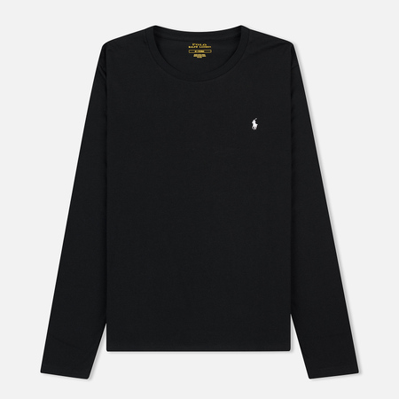 Мужской лонгслив Polo Ralph Lauren Crew Neck Liquid Cotton Black