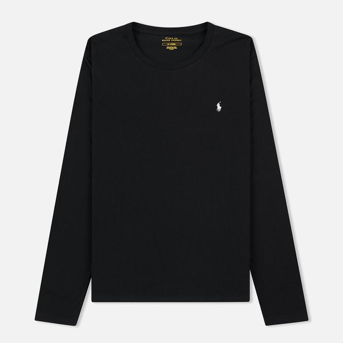 Мужской лонгслив Polo Ralph Lauren Crew Neck Liquid Cotton Black