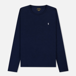 Мужской лонгслив Polo Ralph Lauren Crew Neck Liquid Cotton Cruise Navy фото- 0