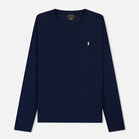 Мужской лонгслив Polo Ralph Lauren Crew Neck Liquid Cotton Cruise Navy