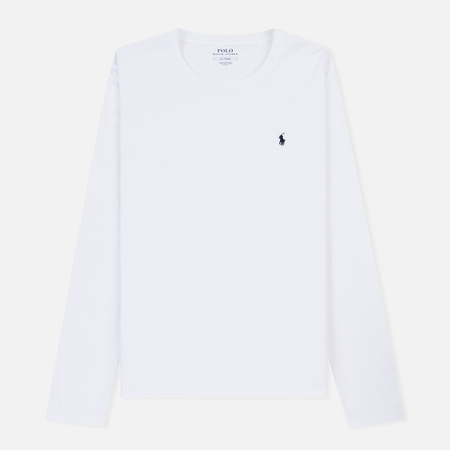 Мужской лонгслив Polo Ralph Lauren Crew Neck Liquid Cotton White