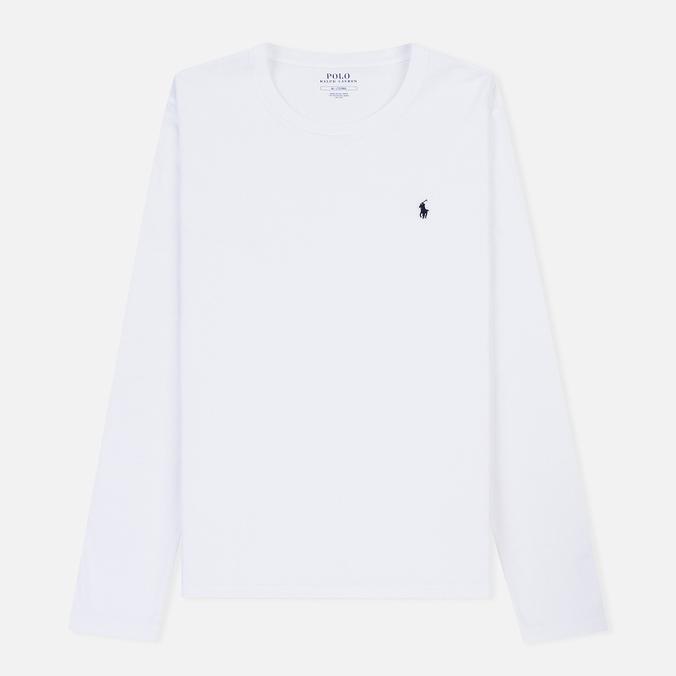 Мужской лонгслив Polo Ralph Lauren Crew Neck Liquid Cotton White