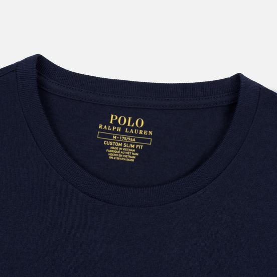 Мужской лонгслив Polo Ralph Lauren Custom Fit Embroidered Pony Ink