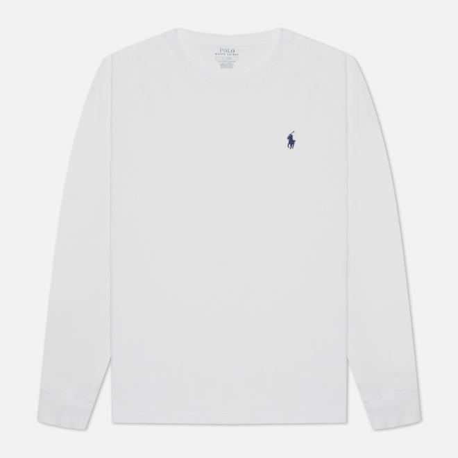 Мужской лонгслив Polo Ralph Lauren Custom Fit Embroidered Pony White