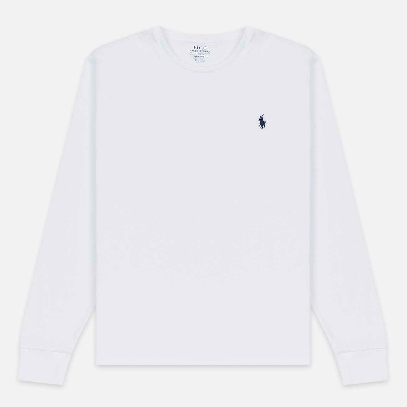 Мужской лонгслив Polo Ralph Lauren Custom Fit Embroidered Pony White
