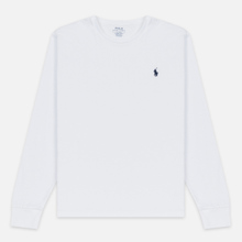 Мужской лонгслив Polo Ralph Lauren Custom Fit Embroidered Pony White фото- 0