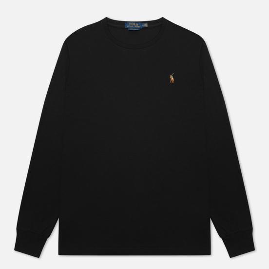 Мужской лонгслив Polo Ralph Lauren Custom Slim Fit Interlock Black