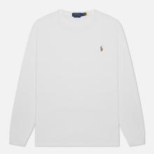 Мужской лонгслив Polo Ralph Lauren Custom Slim Fit Interlock White фото- 2