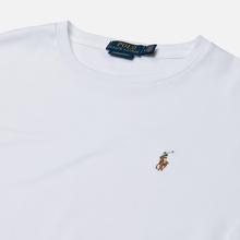 Мужской лонгслив Polo Ralph Lauren Custom Slim Fit Interlock White фото- 1