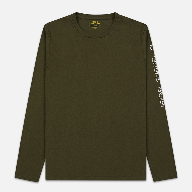 Мужской лонгслив Polo Ralph Lauren Liquid Cotton Crew Sleep Top Spanish Olive