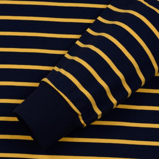 Мужской лонгслив Polo Ralph Lauren Multi Pony Pima Polo Stripe French Navy/Gold Bugle