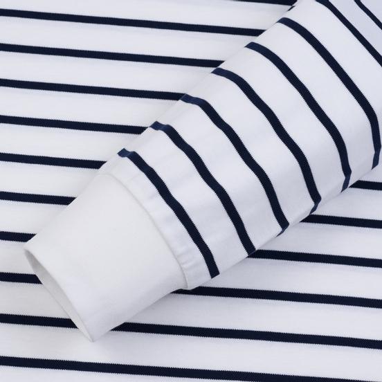 Мужской лонгслив Polo Ralph Lauren Multi Pony Pima Polo Stripe White/French Navy