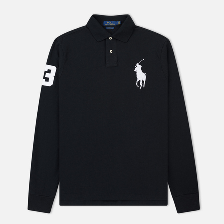Мужской лонгслив Polo Ralph Lauren Polo Big Logo Basic Mesh Black