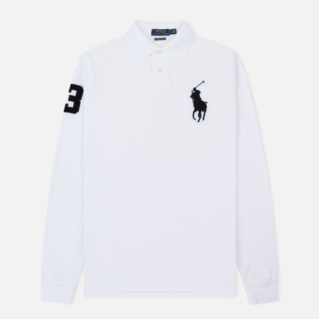Мужской лонгслив Polo Ralph Lauren Polo Big Logo Basic Mesh White