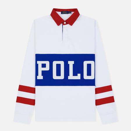 Мужской лонгслив Polo Ralph Lauren Polo Track Printed Rugby White/Multicolor