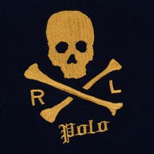Мужской лонгслив Polo Ralph Lauren Skull And Crossbones Emblem Rugby Cruise Navy фото- 2