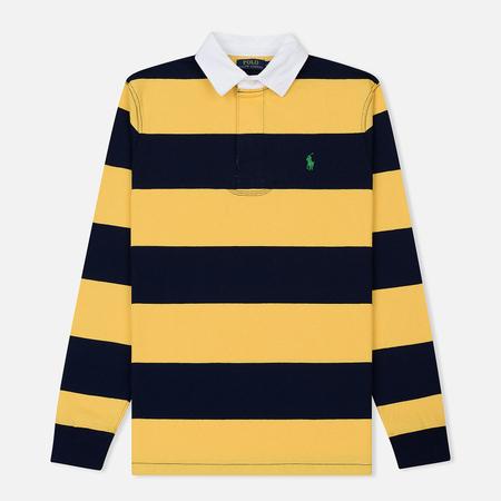 Мужской лонгслив Polo Ralph Lauren Striped Rugby Chrome Yellow/Cruise Navy