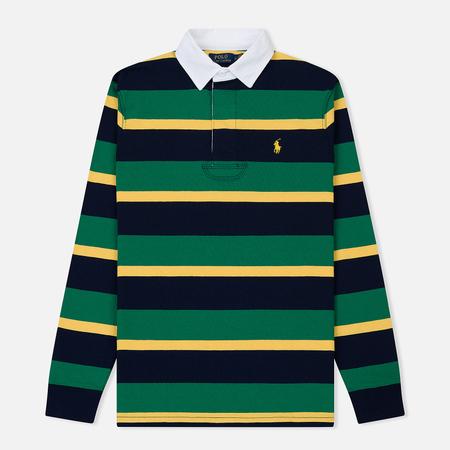 Мужской лонгслив Polo Ralph Lauren Striped Rugby English Green Multi