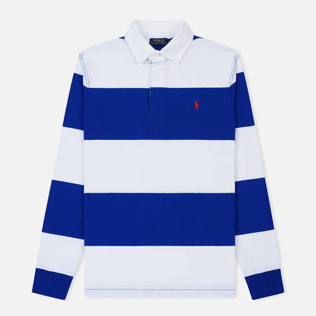 Мужской лонгслив Polo Ralph Lauren Striped Rugby Sapphire Star/Classic Oxford