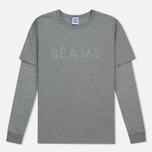 Reebok x Beams Layered LS Medium Men's Longsleeve Grey Heather photo- 0