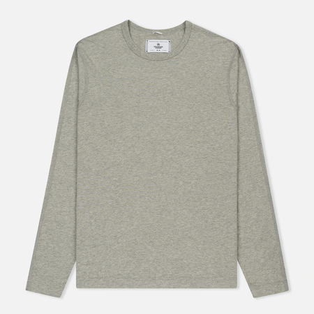 Мужской лонгслив Reigning Champ Ringspun LS Crewneck Heather Grey