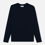 Reigning Champ Ringspun LS Crewneck Men's Longsleeve Navy photo- 0
