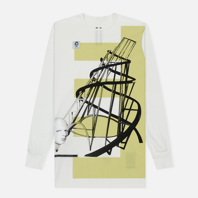 Мужской лонгслив Rick Owens DRKSHDW Graphic Print 5 Milk/Dark Lime