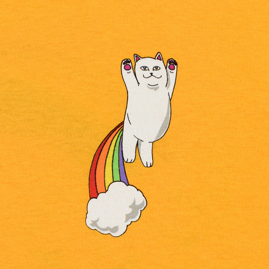 Мужской лонгслив RIPNDIP Double Nerm Rainbow Gold